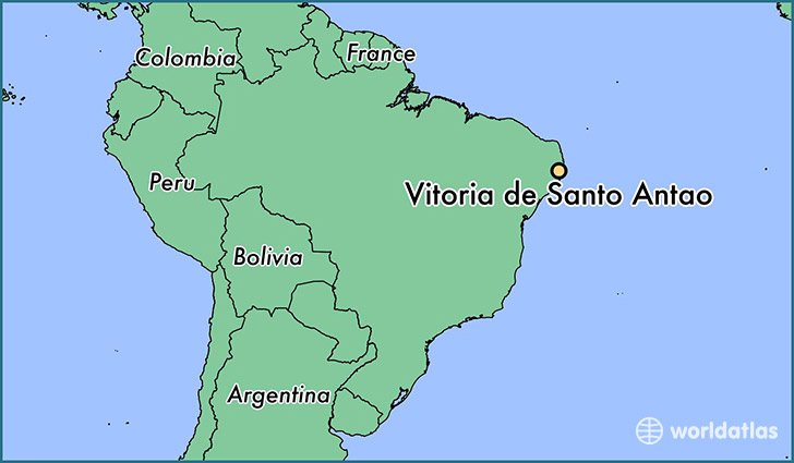 map showing the location of Vitoria de Santo Antao