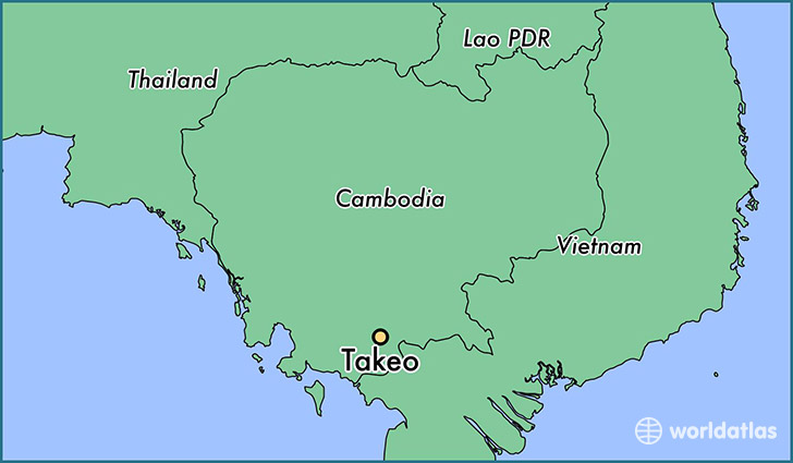 map showing the location of Takeo