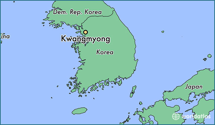 map showing the location of Kwangmyong
