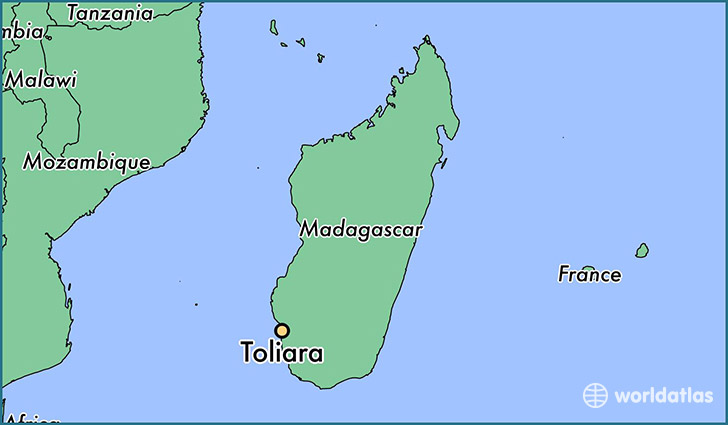 map showing the location of Toliara