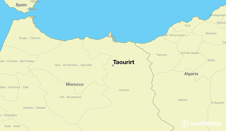 map showing the location of Taourirt