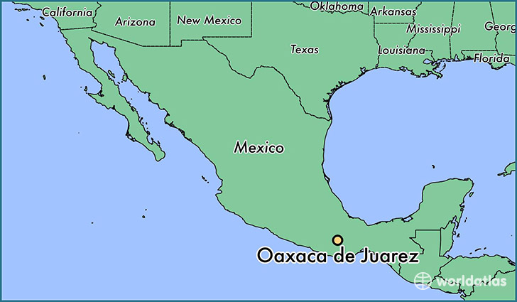 Where is Oaxaca de Juarez Mexico Oaxaca de Juarez Oaxaca Map