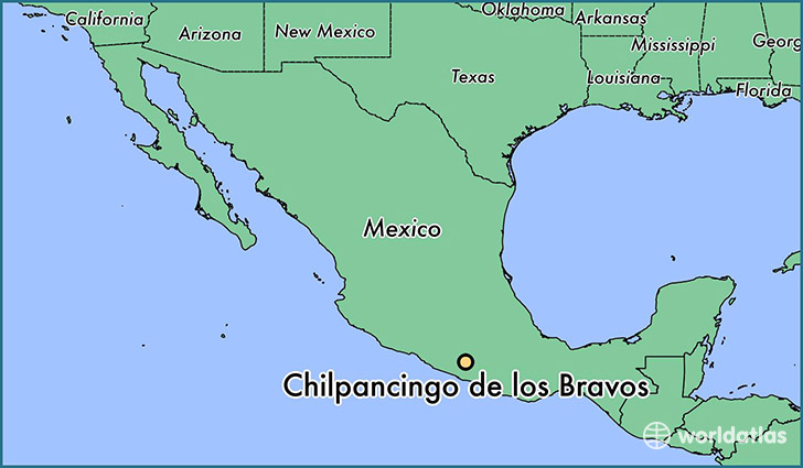 map showing the location of Chilpancingo de los Bravos