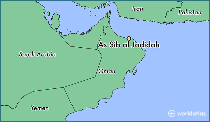 map showing the location of As Sib al Jadidah
