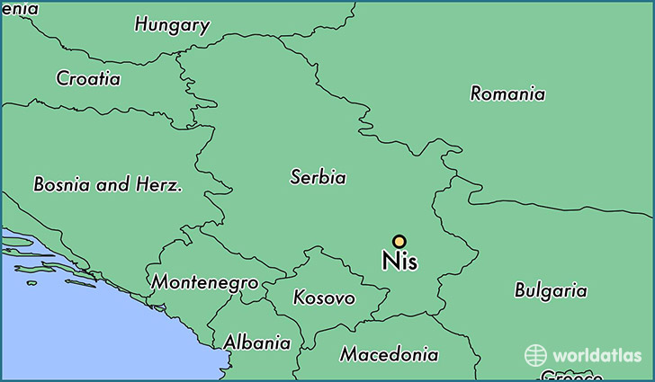 Where is nis serbia nis central serbia map worldatlas map showing the location of nis gumiabroncs Gallery
