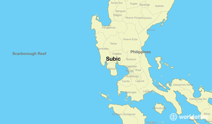 map showing the location of Subic