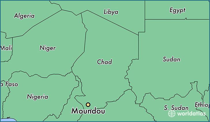 map showing the location of Moundou