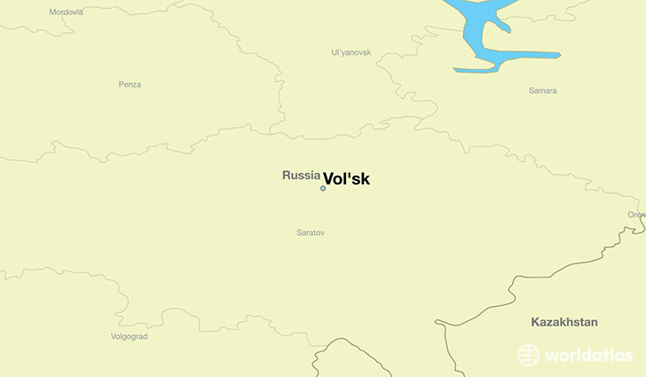 map showing the location of Vol'sk