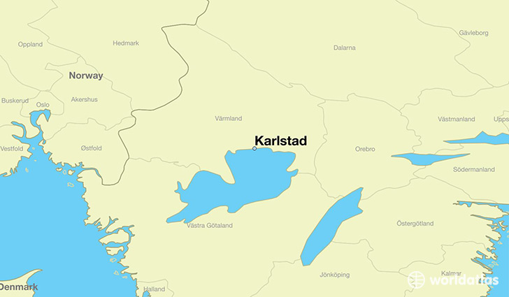map showing the location of Karlstad