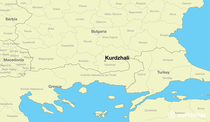 map showing the location of Kurdzhali