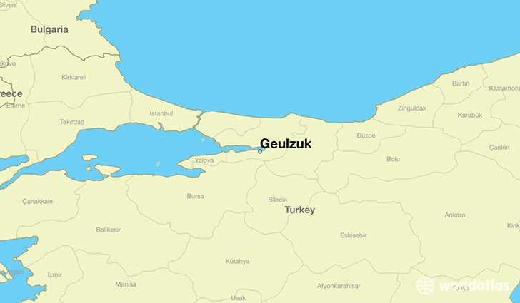 map showing the location of Geulzuk