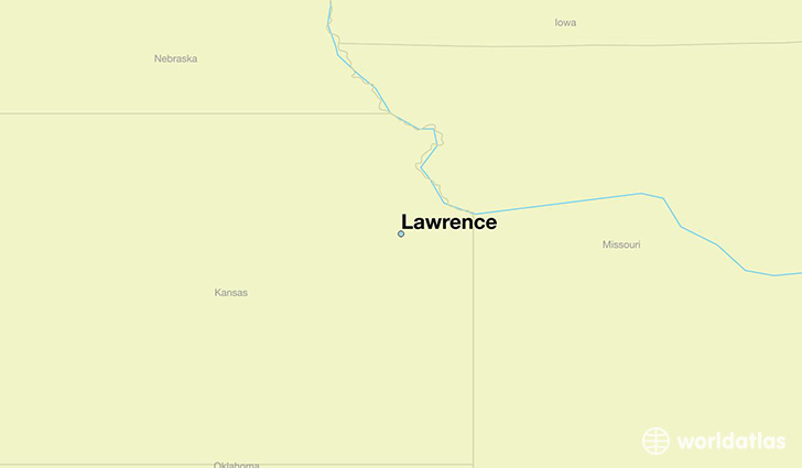 map showing the location of Lawrence