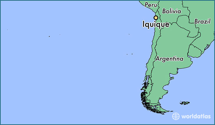 map showing the location of Iquique