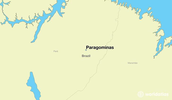 map showing the location of Paragominas