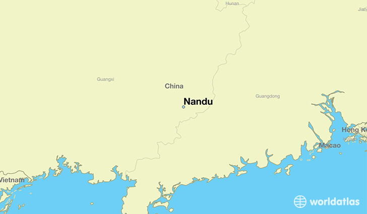 map showing the location of Nandu