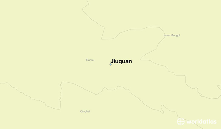 map showing the location of Jiuquan
