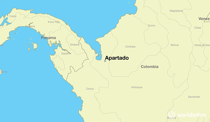 map showing the location of Apartado