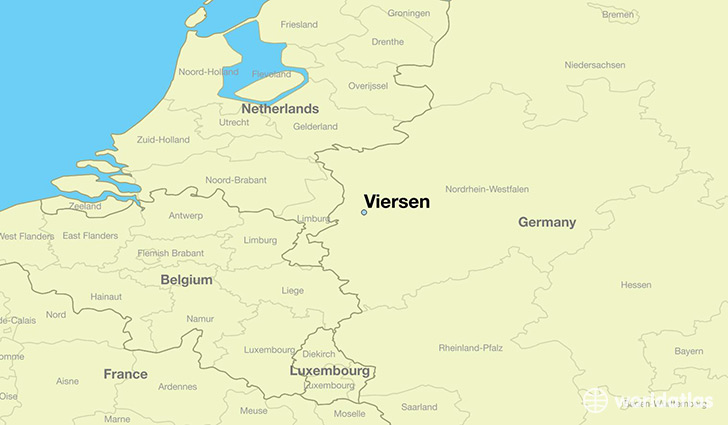 map showing the location of Viersen