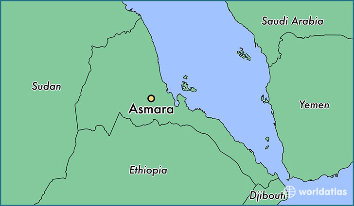Where is Asmara Eritrea Asmara Maekel Region Map WorldAtlascom