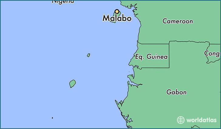 Where is Malabo Equatorial Guinea Malabo Bioko Norte Map