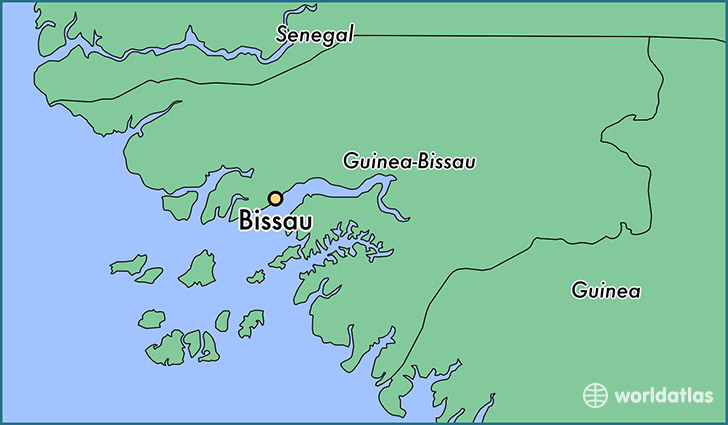 map showing the location of Bissau