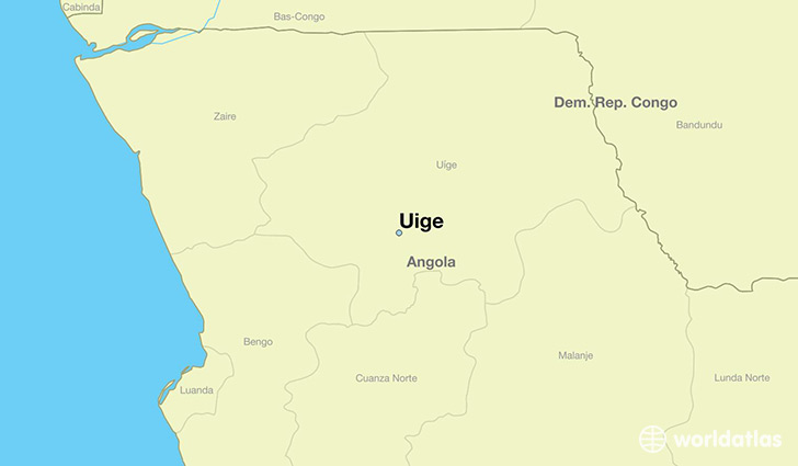 map showing the location of Uige