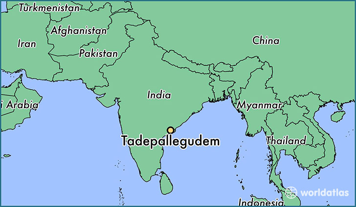 map showing the location of Tadepallegudem