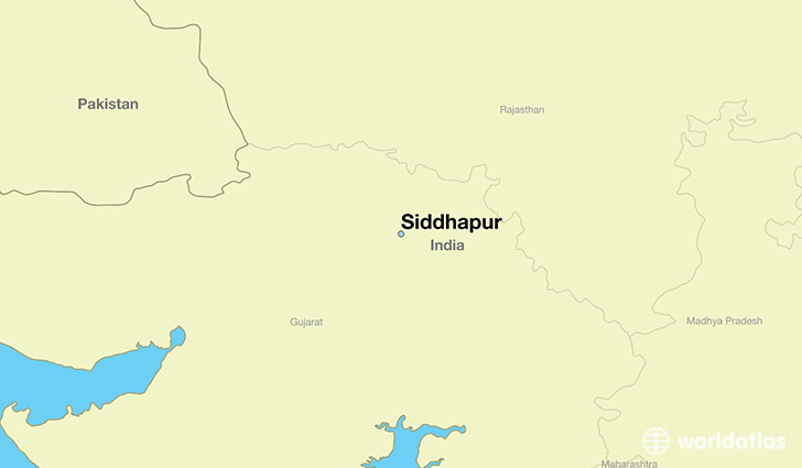 map showing the location of Siddhapur