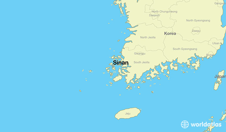 map showing the location of Sinan