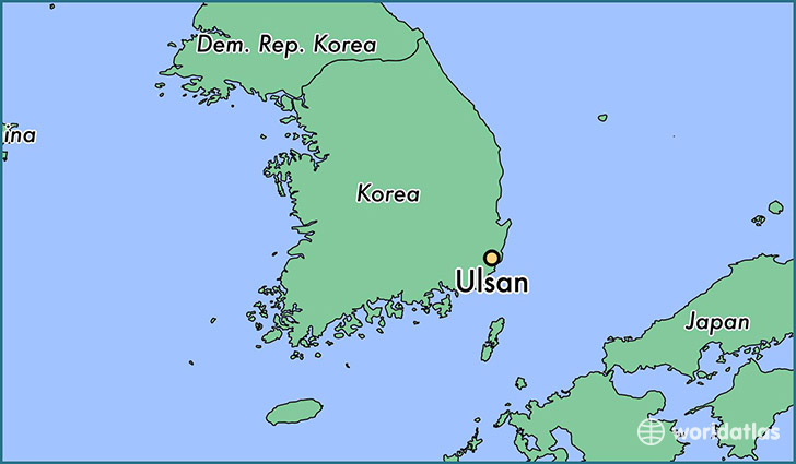 Image result for ulsan south korea map
