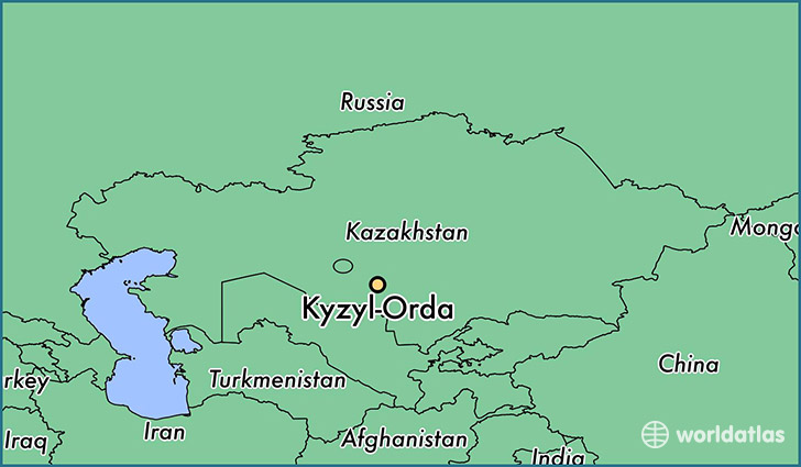 map showing the location of Kyzyl-Orda