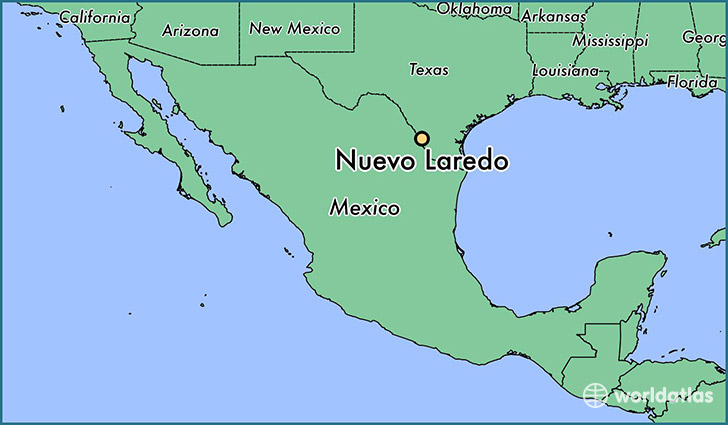 map showing the location of Nuevo Laredo