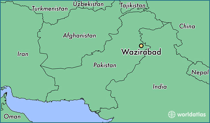 map showing the location of Wazirabad