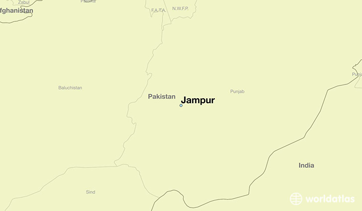 map showing the location of Jampur