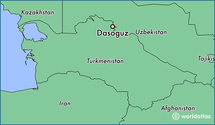 map showing the location of Dasoguz