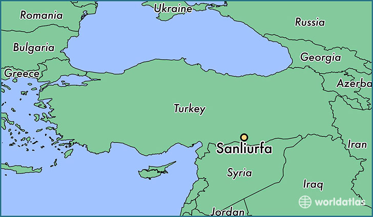 map showing the location of Sanliurfa
