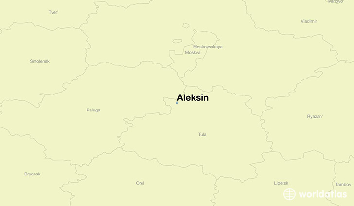 map showing the location of Aleksin