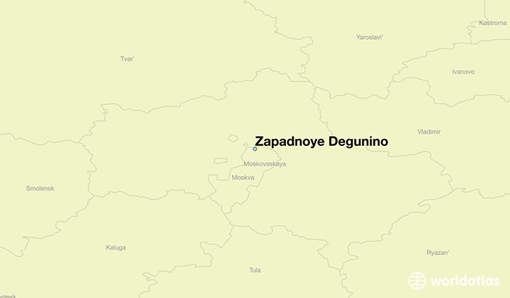 map showing the location of Zapadnoye Degunino