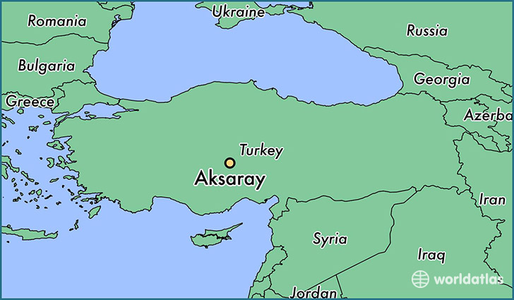 map showing the location of Aksaray