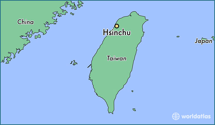 map showing the location of Hsinchu