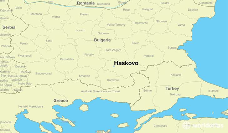 Where Is Haskovo Bulgaria Haskovo Khaskovo Map WorldAtlascom - Bulgaria time zone map