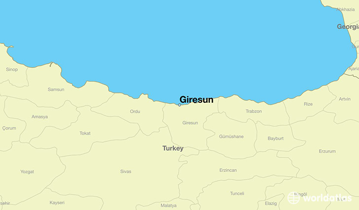 map showing the location of Giresun