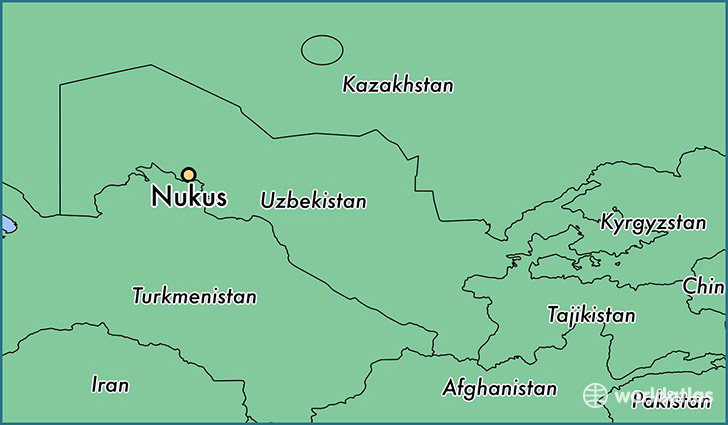 map showing the location of Nukus