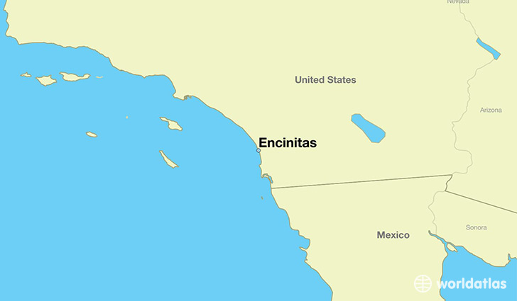 map showing the location of Encinitas