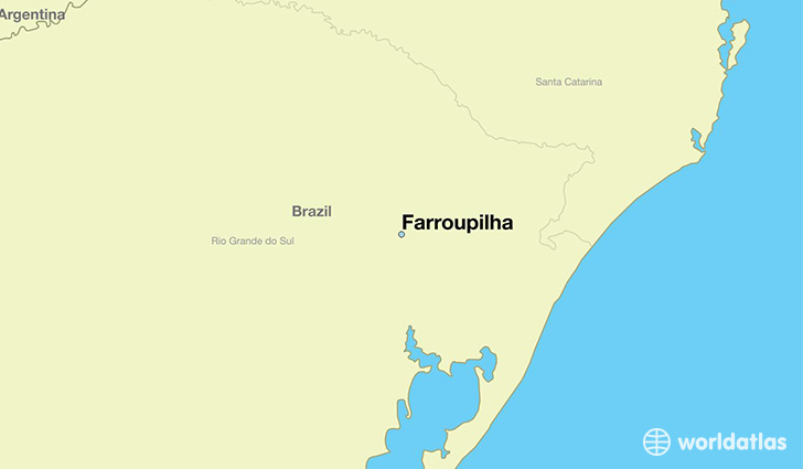 Where is Farroupilha Brazil Farroupilha Rio Grande do Sul Map