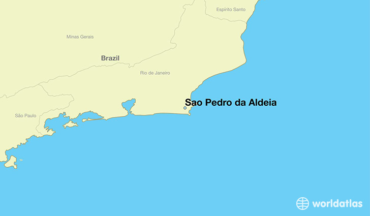 map showing the location of Sao Pedro da Aldeia