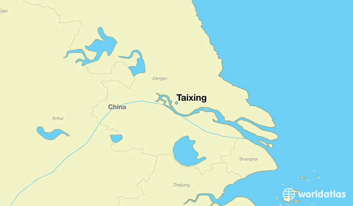 map showing the location of Taixing