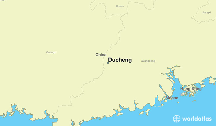map showing the location of Ducheng