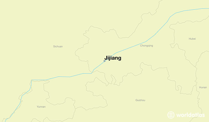 map showing the location of Jijiang