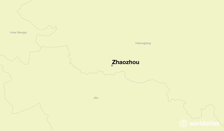 map showing the location of Zhaozhou